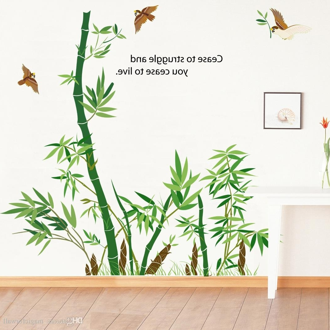 Most Up To Date Bamboo Wall Art With Regard To Bamboo Forest Wall Art Mural Decor Cease To Struggle And You Cease (View 16 of 20)