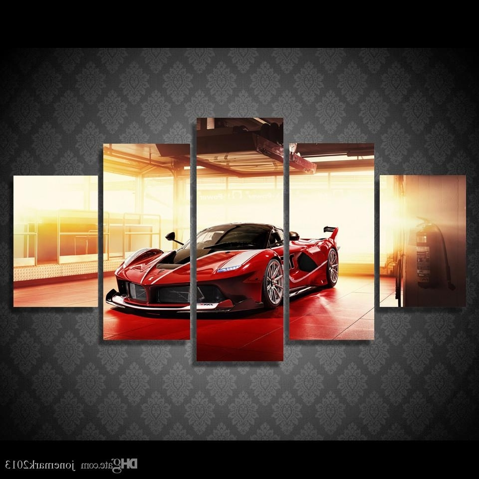 Most Up To Date Car Canvas Wall Art In 2018 Framed Hd Printed Red Luxury Sports Car Picture Wall Art Canvas (View 14 of 20)