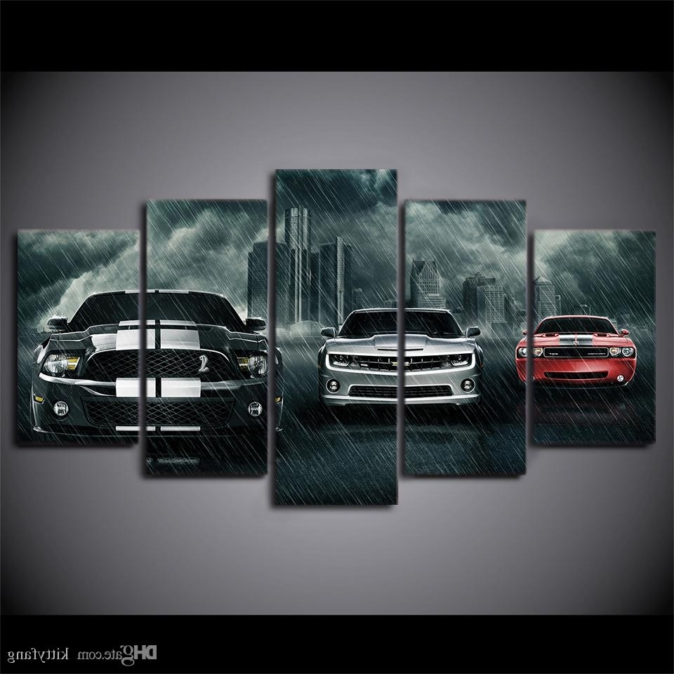 Most Up To Date Car Canvas Wall Art With Regard To 2018 Canvas Wall Art Pictures Home Decor Framework Muscle Cars (View 15 of 20)
