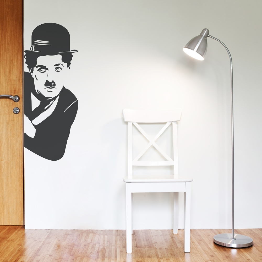 Most Up To Date Corner Wall Art Intended For Charlie Chaplin Wall Art Decal (View 15 of 20)