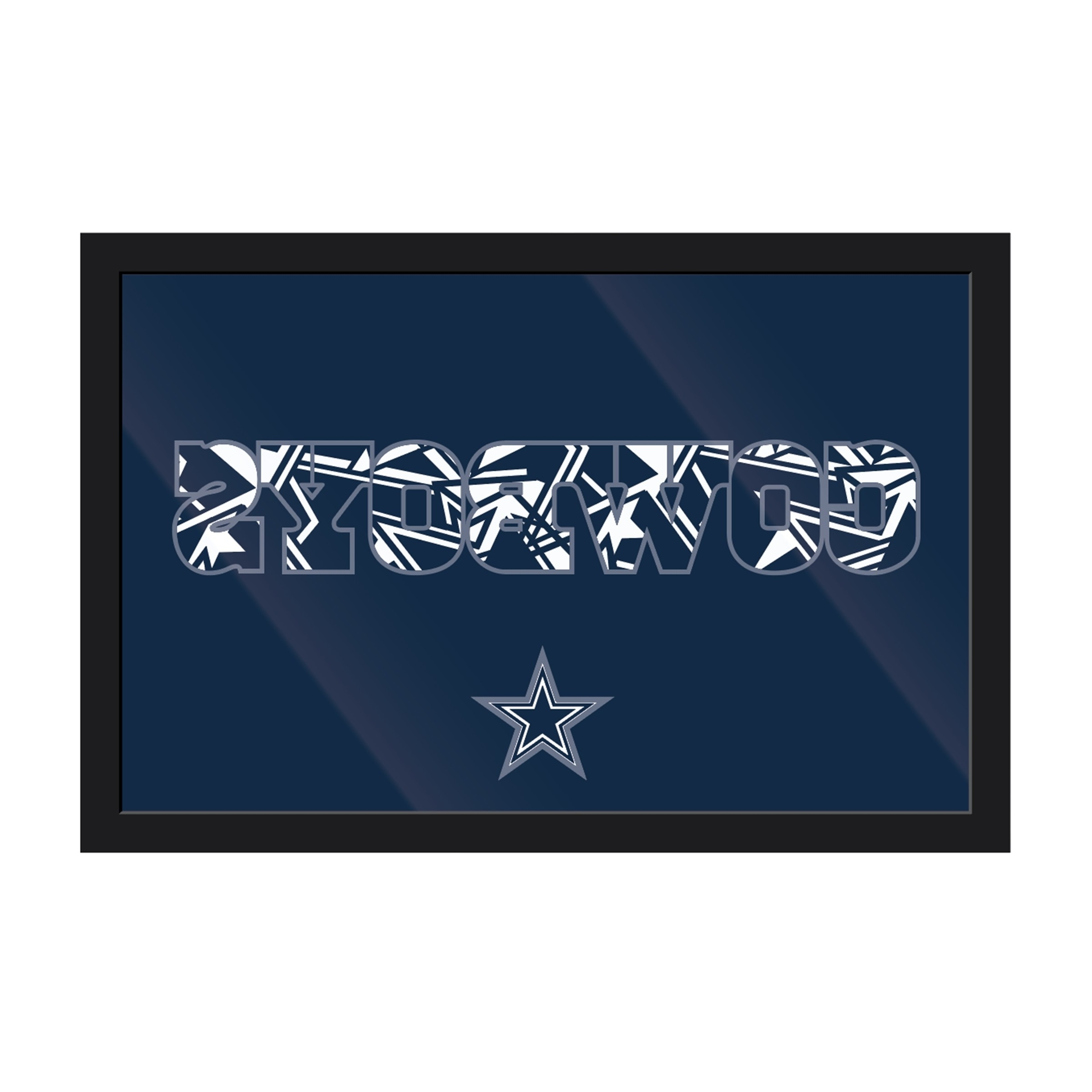 Most Up To Date Dallas Cowboys Framed Modern Wall Art – Wall Art – Wall Decor – Nfl In Nfl Wall Art (View 7 of 20)