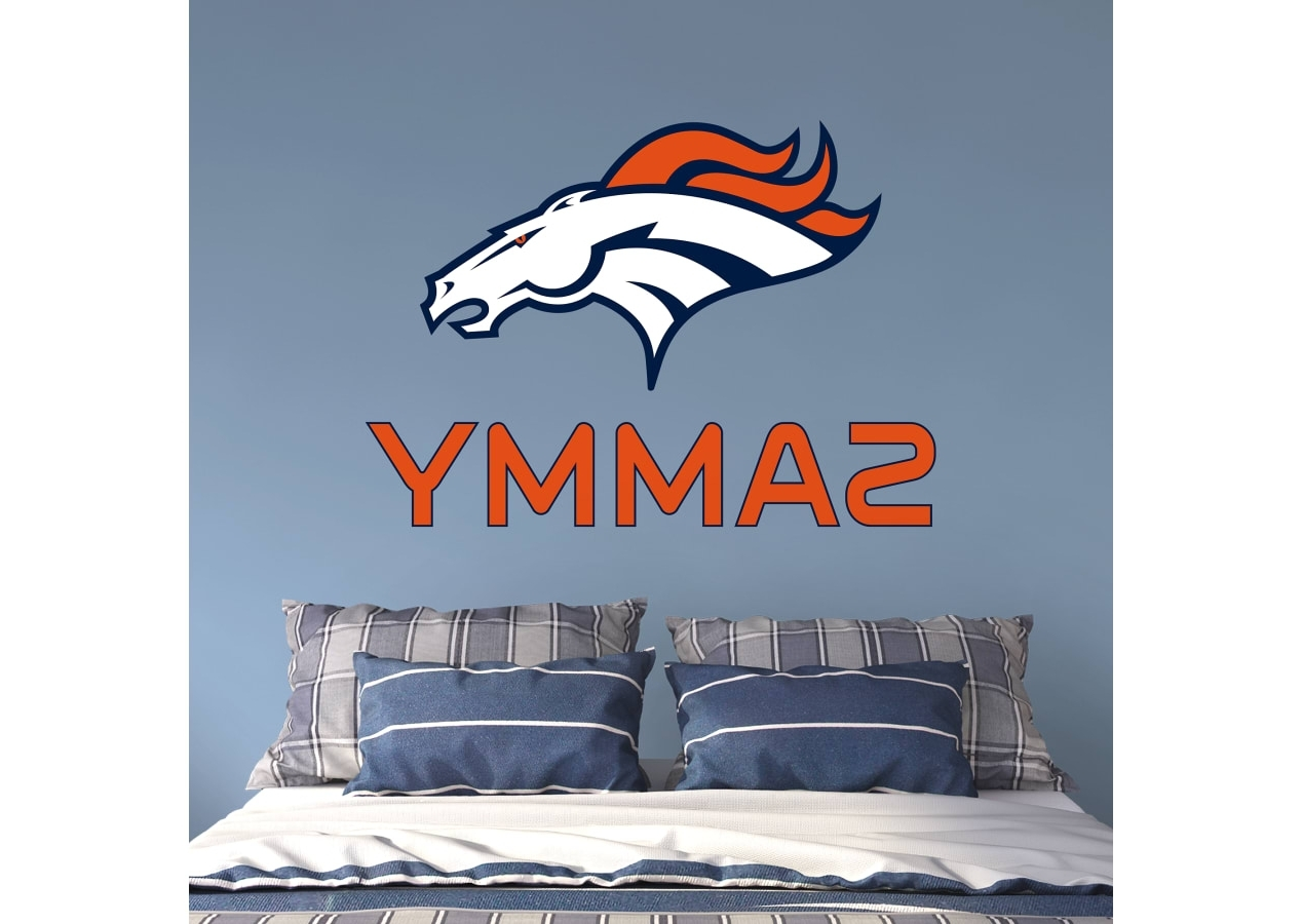 Most Up To Date Denver Broncos Stacked Personalized Name Wall Decal (View 11 of 20)
