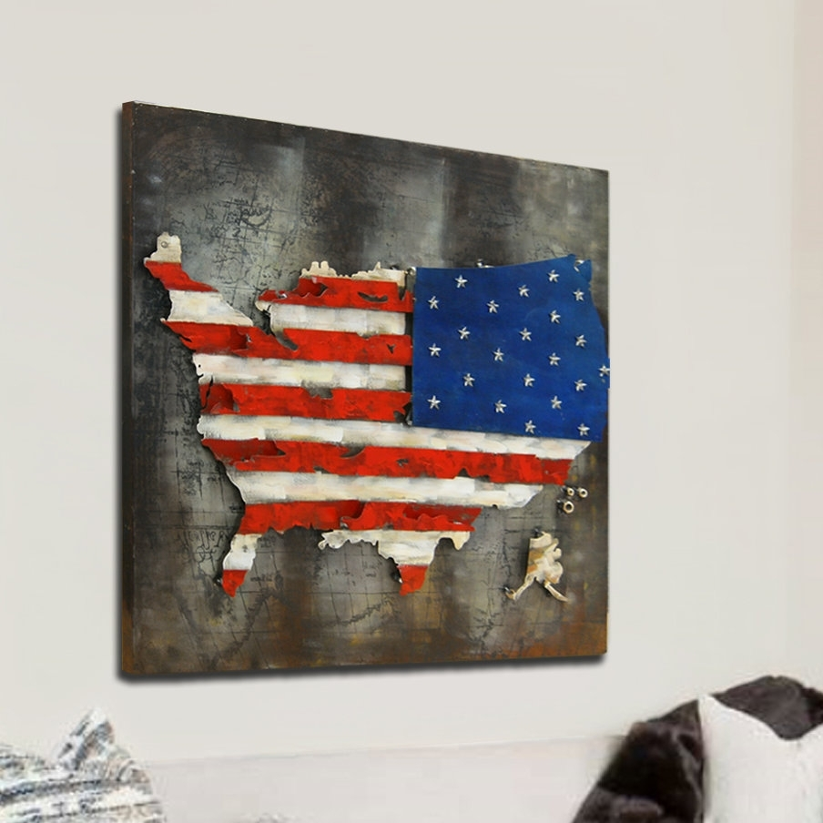 Most Up To Date Hdc International 3D Us American Flag Wall Decor (View 11 of 15)