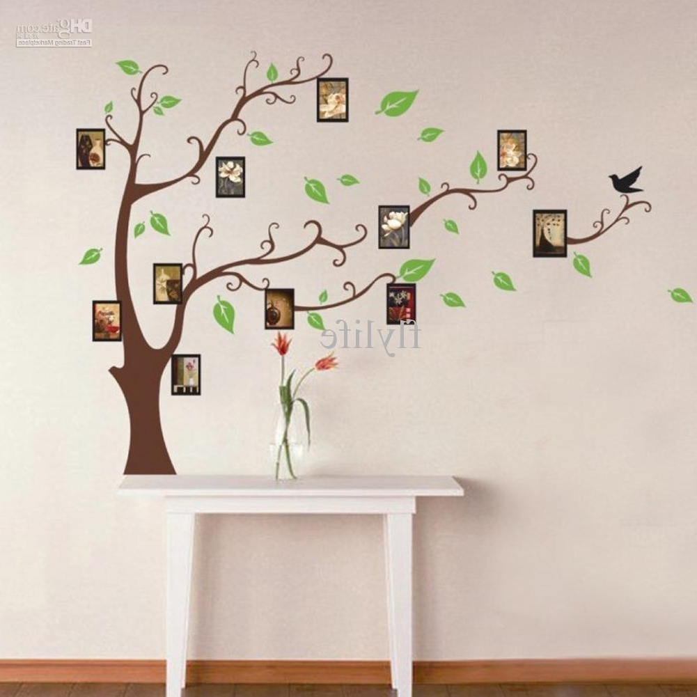 Most Up To Date Home Decor Wall Art Regarding Large Art Photo Frames Tree Wall Decor Stickers Green Leaves On The (View 14 of 20)
