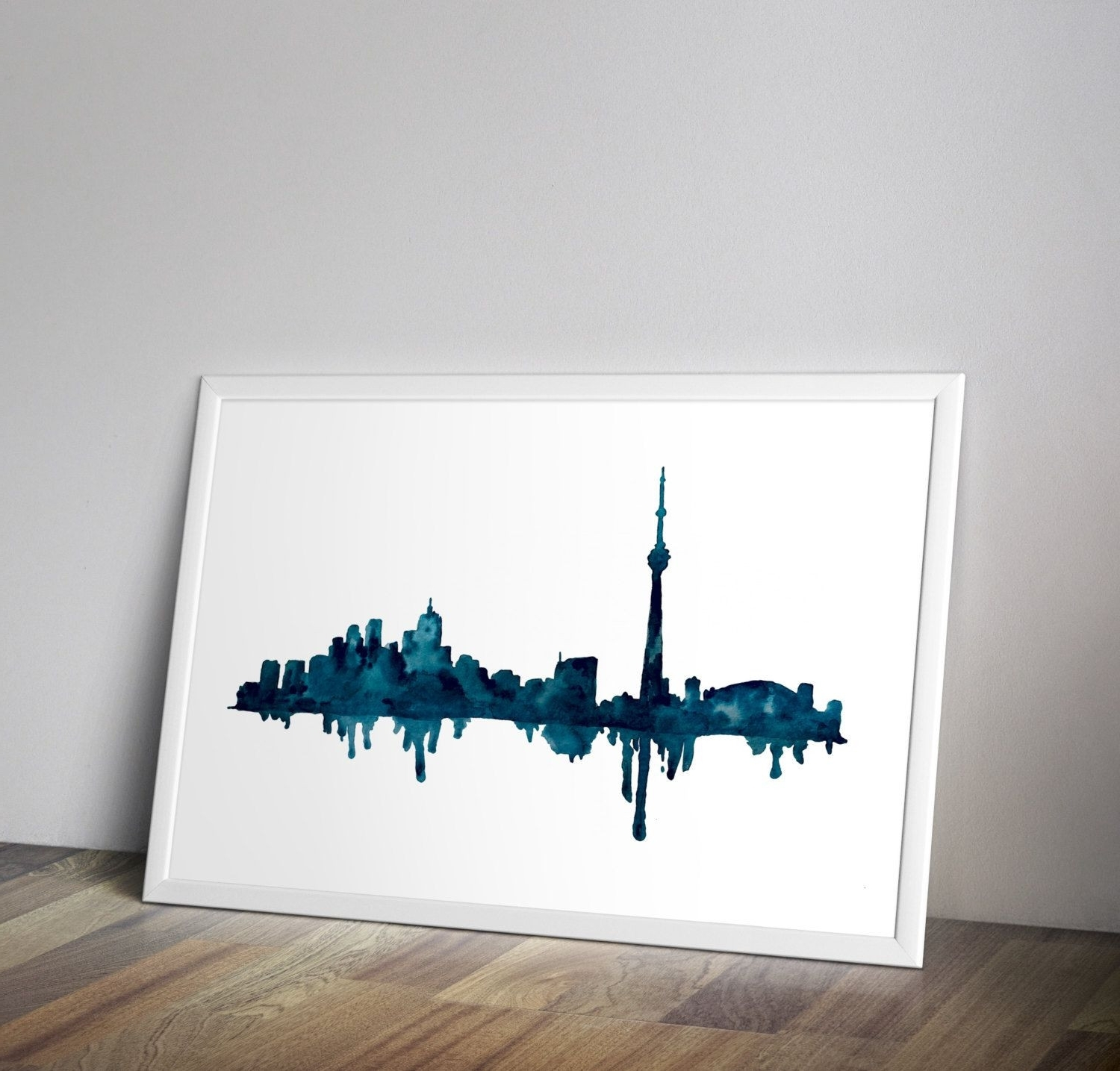 Most Up To Date Kansas City Wall Art For Toronto Skyline Toronto Art Watercolor Cityscape Cityscape Wall (View 16 of 20)