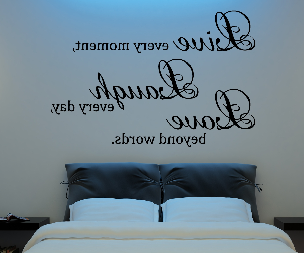 Most Up To Date Live Laugh Love Wall Art With Live Laugh Love Wall Decal Vinyl Sticker Quote Art Living Room (Gallery 8 of 20)
