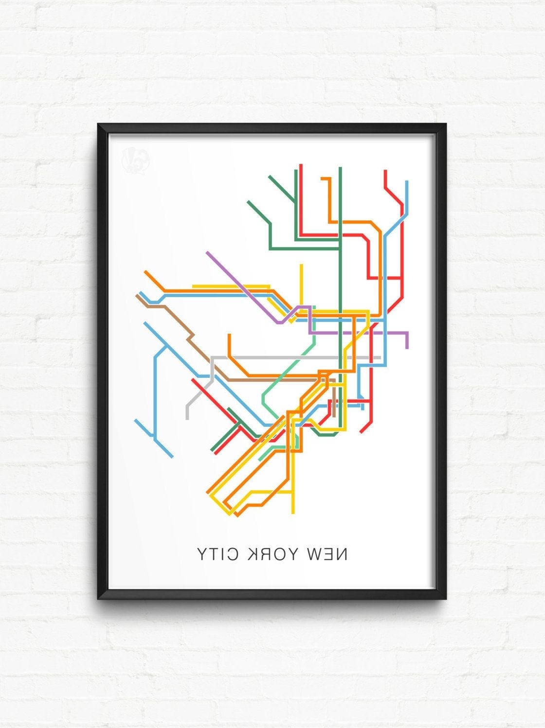 Most Up To Date New York City Print Of Nyc Subway Map – City Transit Map Poster, Nyc Throughout Nyc Subway Map Wall Art (View 2 of 20)