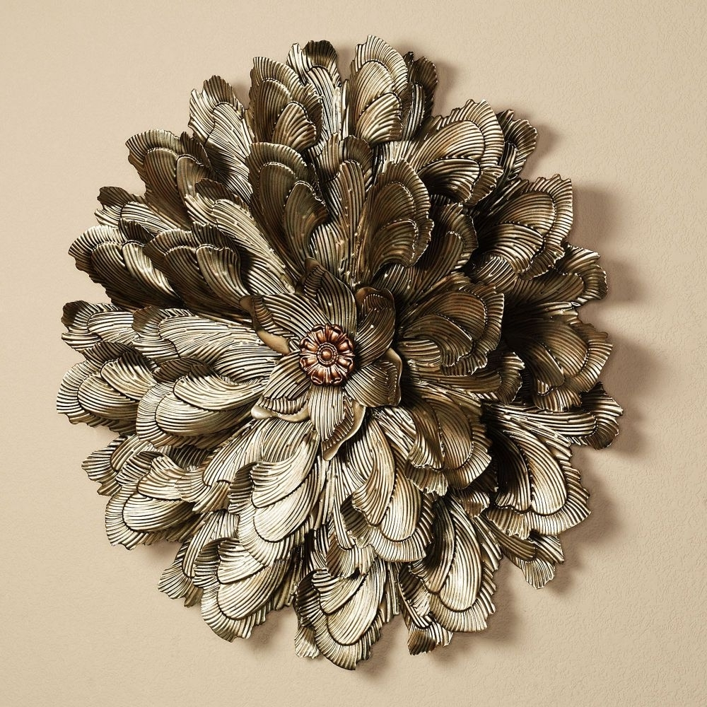 Most Up To Date Shocking Wall Art Design Ideas Delicate Blossom Large Metal Flower Throughout Metal Flower Wall Art (View 11 of 15)