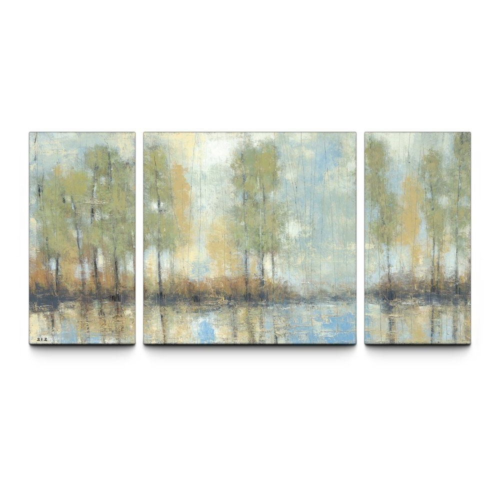 Most Up To Date Through The Mist 30 X 60 Textured Canvas Art Print Triptych – Wall In Triptych Wall Art (View 12 of 20)