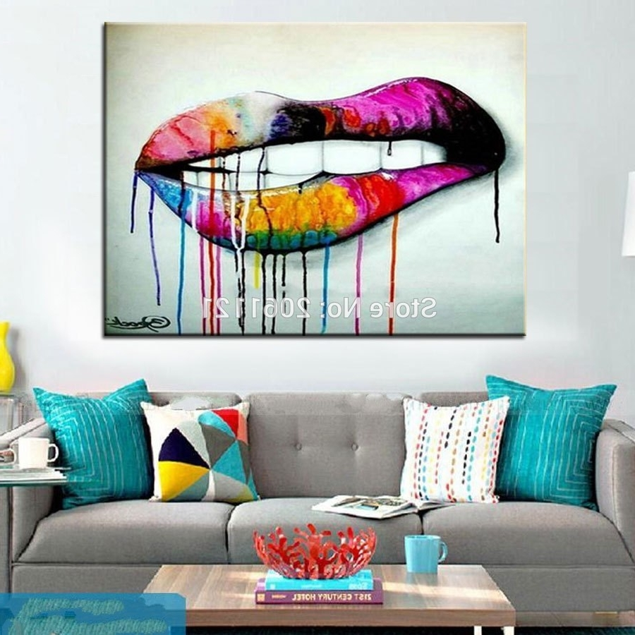 Most Up To Date Vibrant Design Artwork For Living Room Pop Art Idea Wall Canvas With Regard To Living Room Painting Wall Art (Gallery 14 of 20)