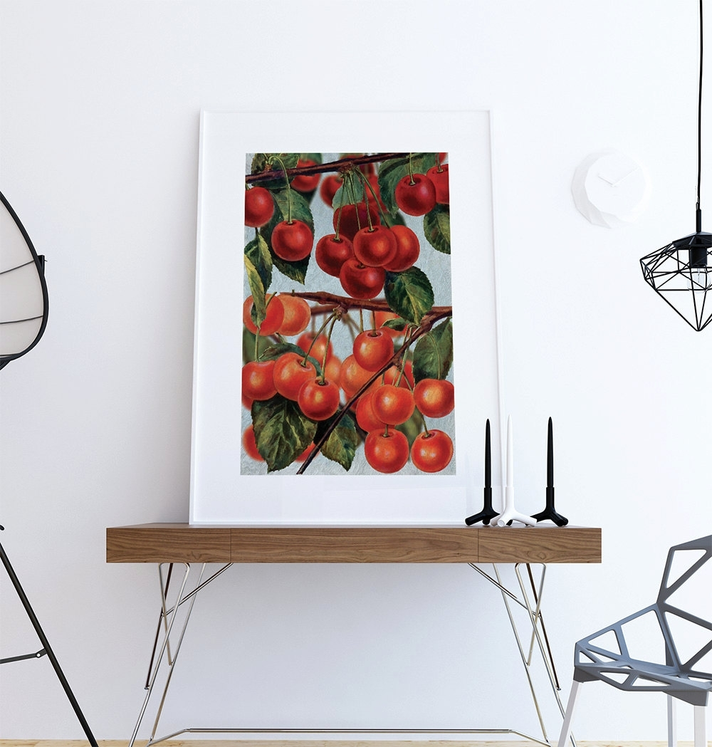 Most Up To Date Wall Art For Kitchen With Regard To Kitchen Wall Art Cherries Print Kitchen Print Food Photograph Fruit (View 19 of 20)