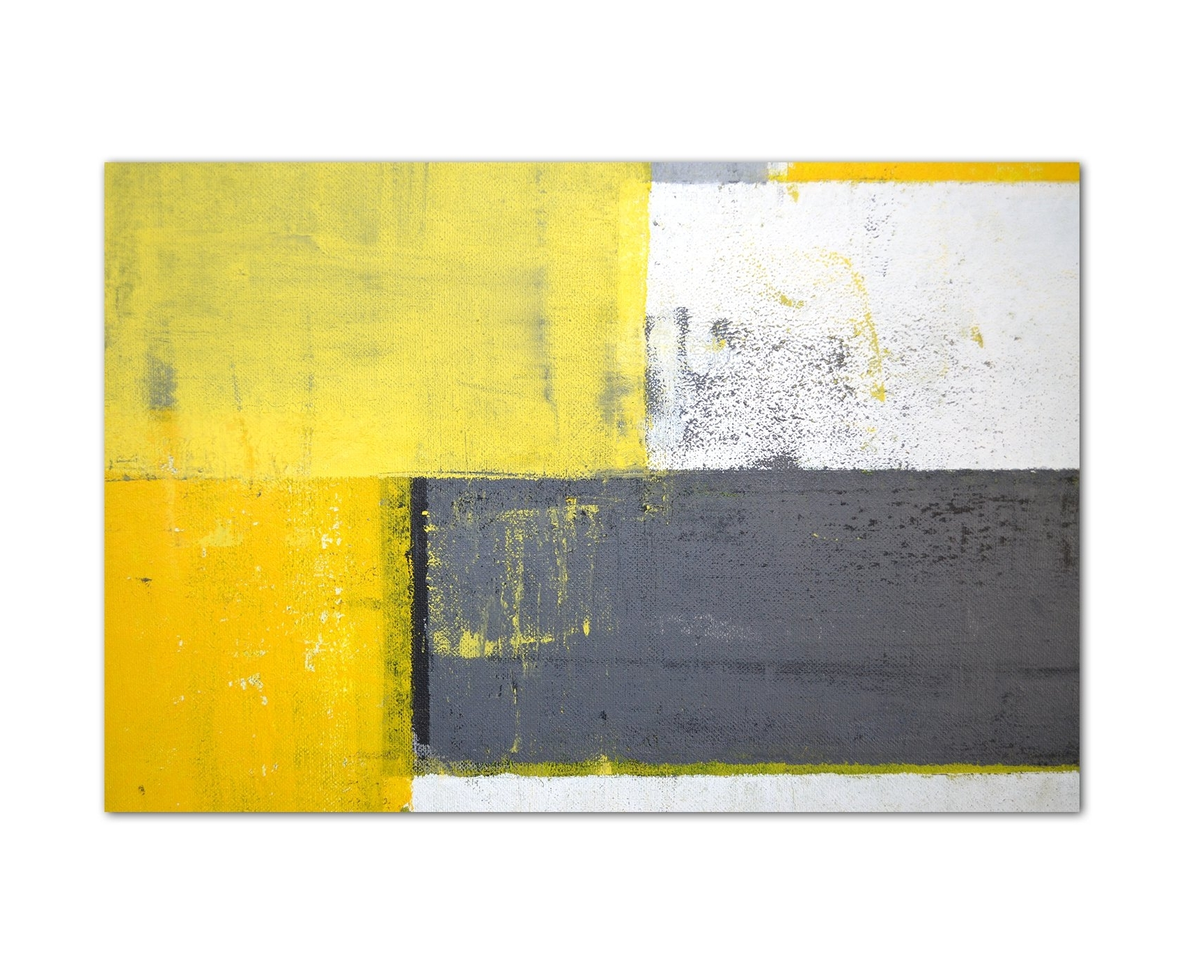 Most Up To Date Yellow And Grey Wall Art: Amazon.co (View 13 of 20)