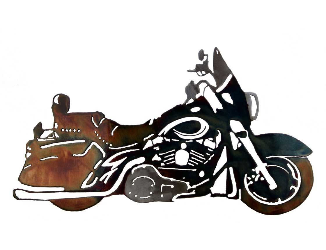 Motorcycle Wall Art For Current Smw126 Custom Metal Motorcycle Wall Art Hd Classic – Sunriver Metal (View 13 of 20)