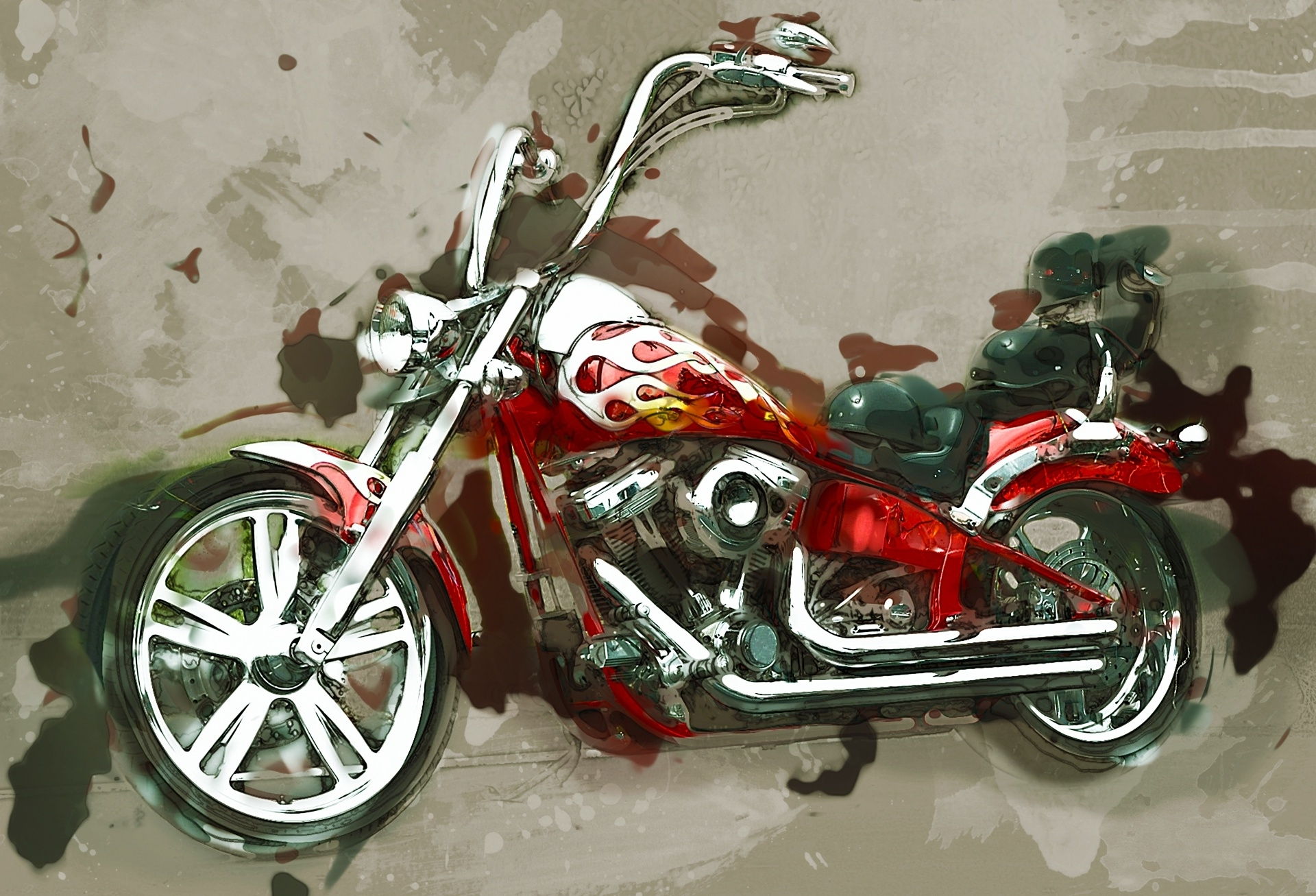 Motorcycle Wall Art Free Stock Photo – Public Domain Pictures Throughout Favorite Motorcycle Wall Art (View 10 of 20)