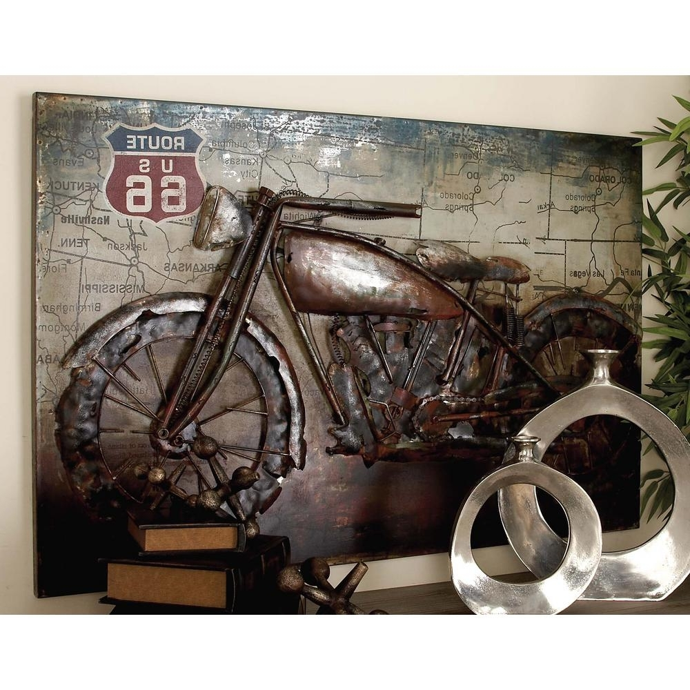 Motorcycle Wall Art Intended For Most Up To Date Litton Lane 32 In. X 47 In (View 12 of 20)