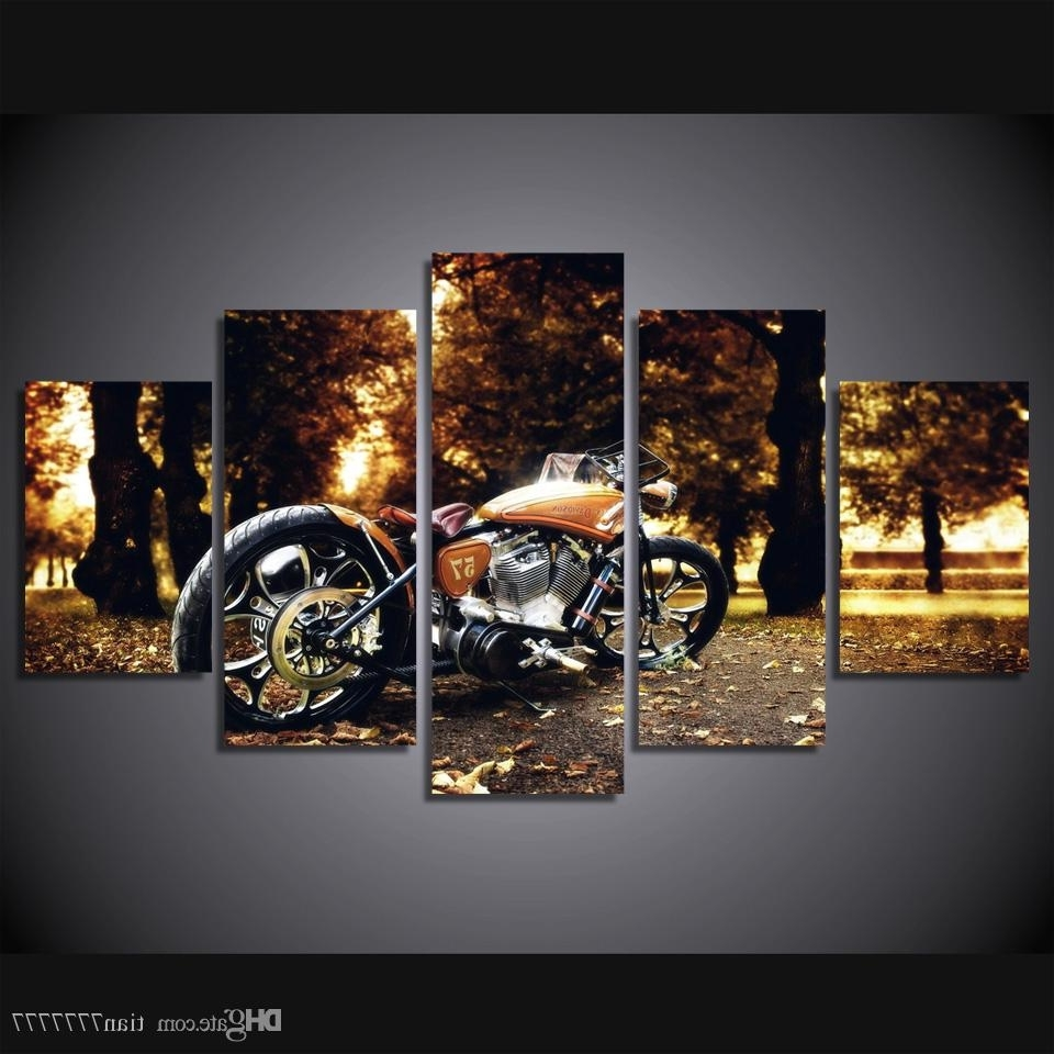 Motorcycle Wall Art Pertaining To Most Current 2018 Wall Art Racing Motorcycle Painting Canvas Print Poster Picture (View 6 of 20)