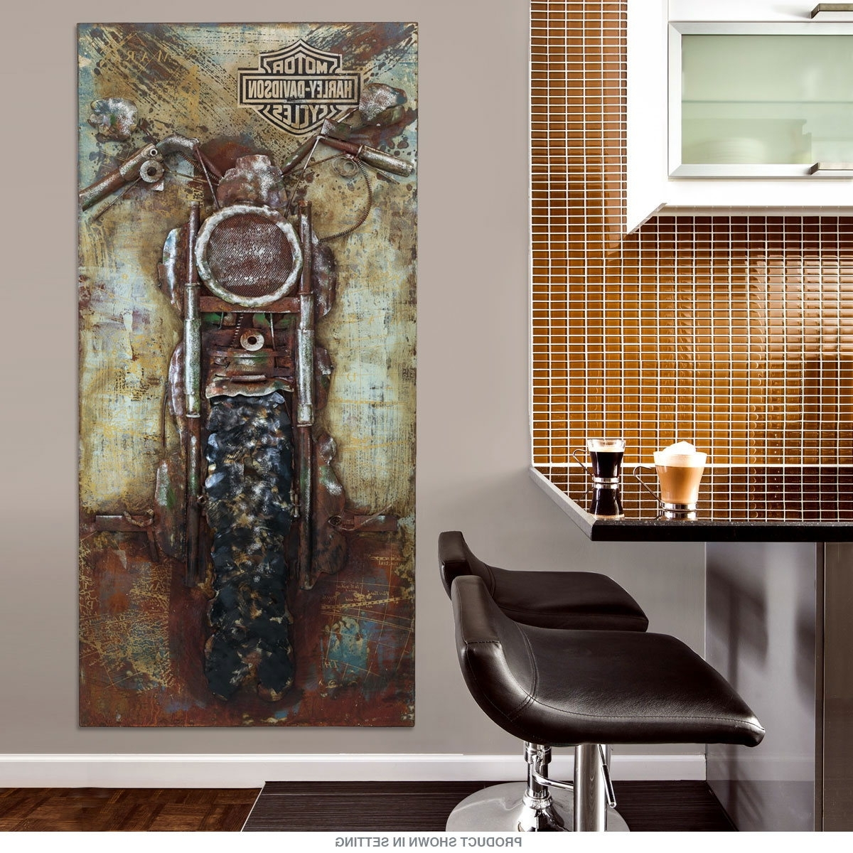 Motorcycle Wall Art With Latest Harley Davidson Bike Repurposed Steel Wall Art (Gallery 3 of 20)