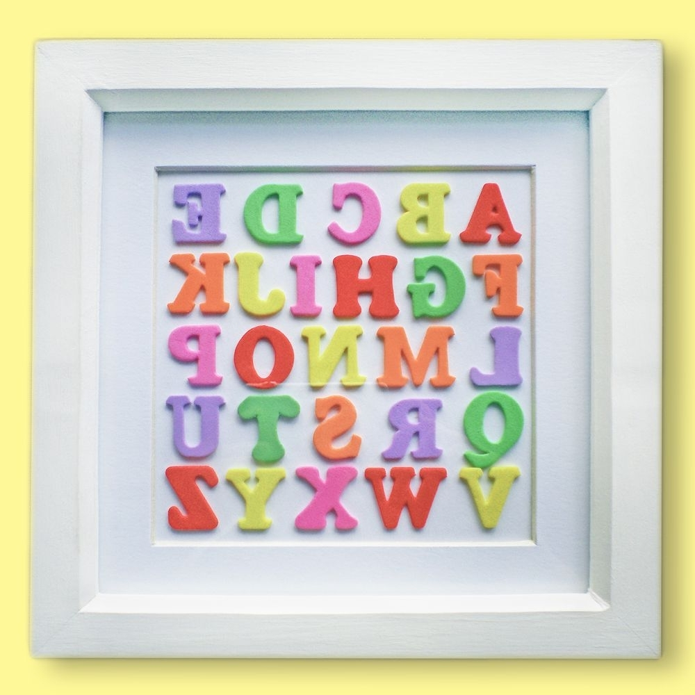 Multicoloured Alphabet Wall Art (View 12 of 20)