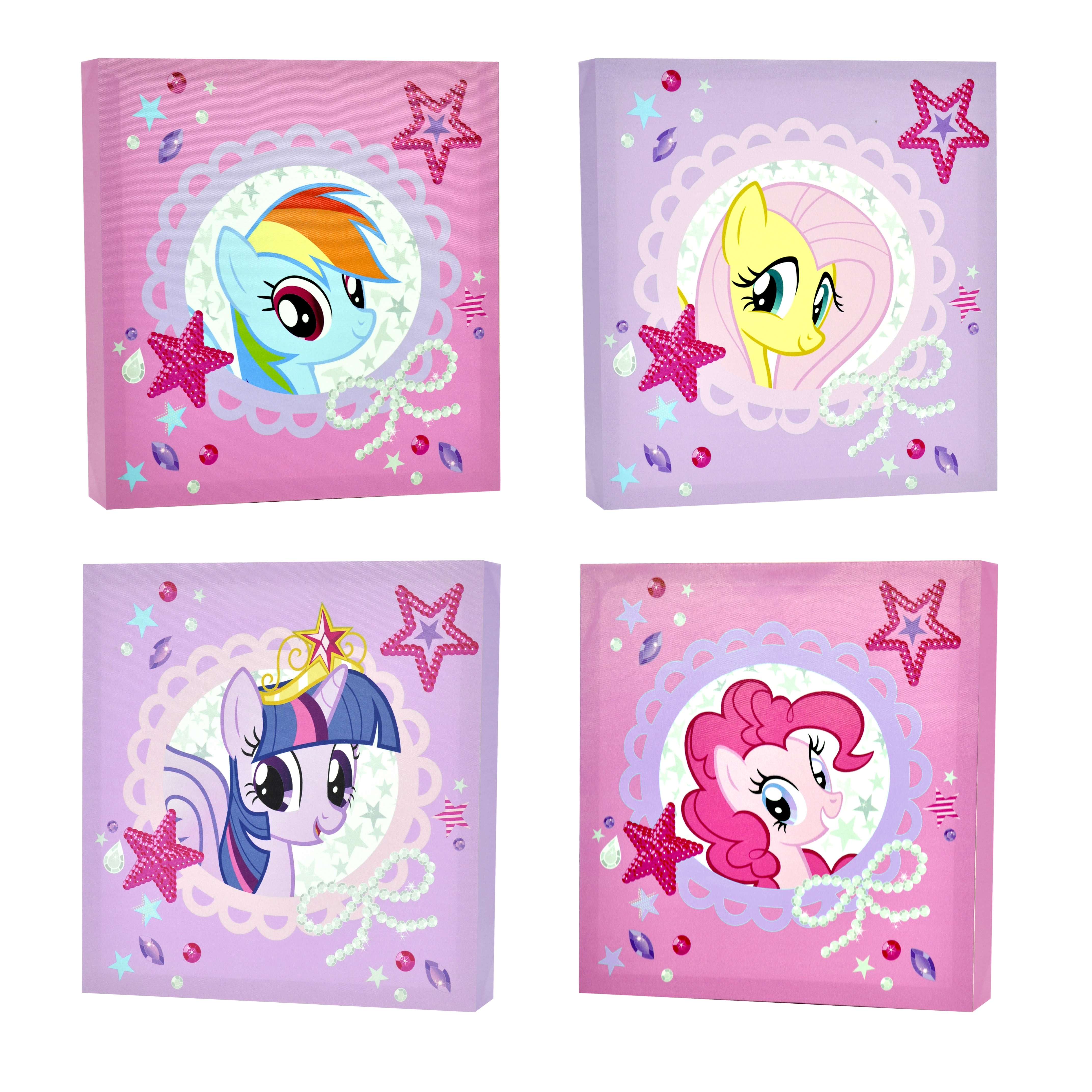 My Little Pony 4 Piece Canvas Wall Art – Walmart Within Current My Little Pony Wall Art (View 3 of 20)