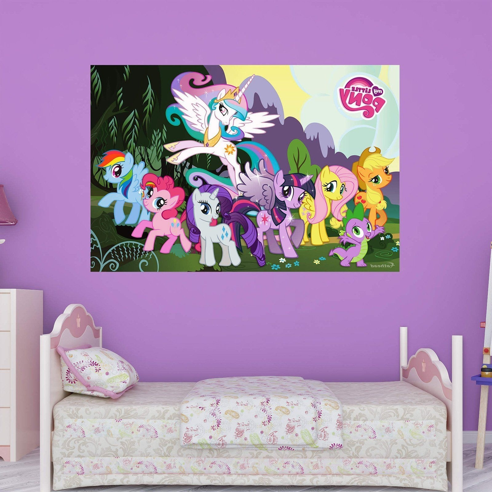 My Little Pony Wall Art For Well Liked Fathead My Little Pony Wall Mural – 1030 (View 18 of 20)