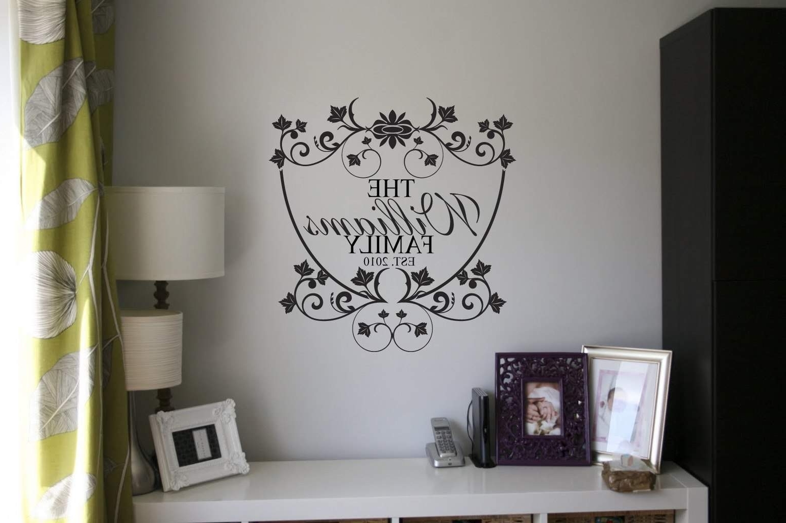 Name Wall Art Inside Most Current Personalised Family Name Wall Art Decal (Gallery 12 of 20)