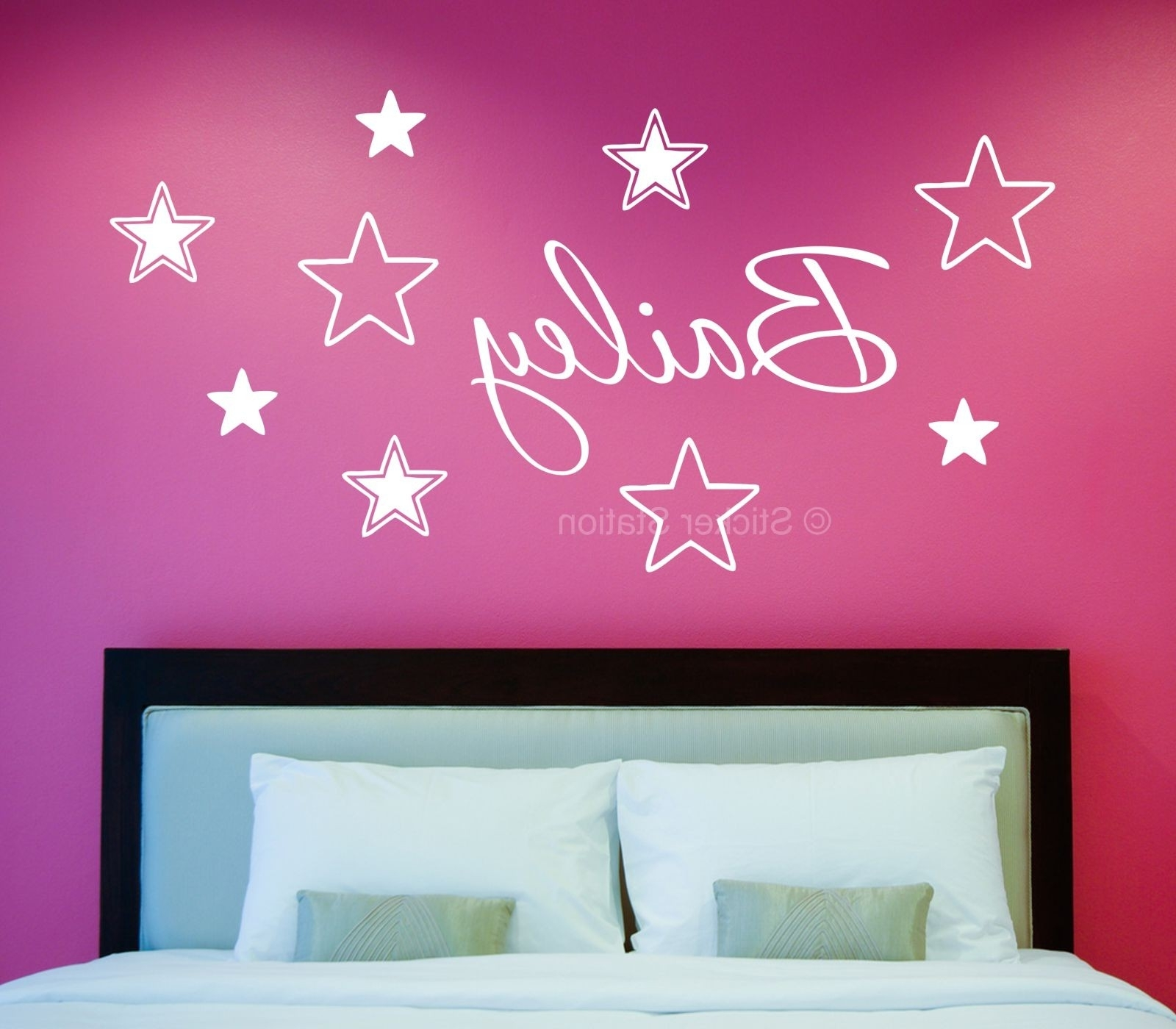 Name Wall Art Regarding Well Known Name In Stars Personalised Wall Art Sticker – Sticker Station (Gallery 2 of 20)