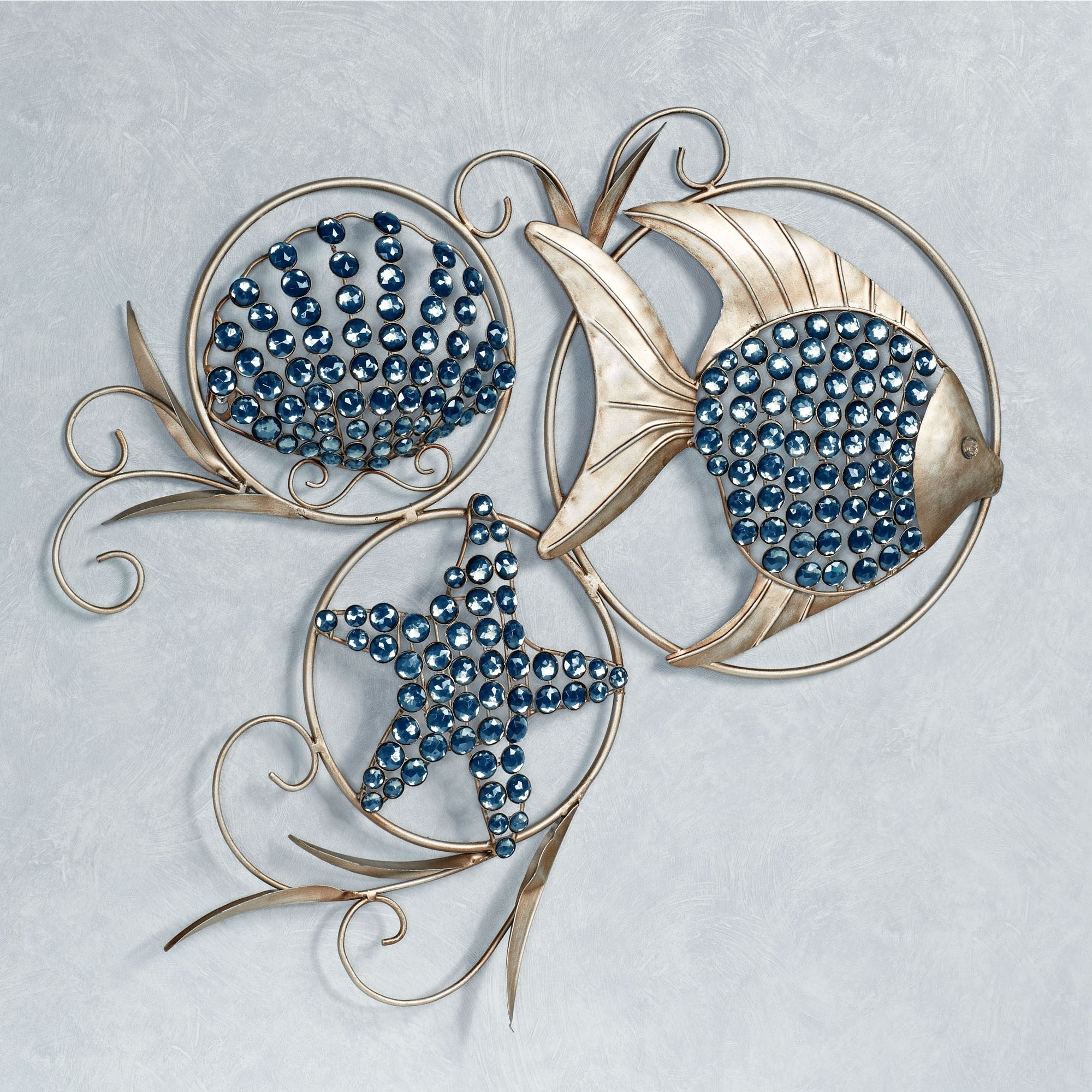 Nautical Wall Art With Most Up To Date Ocean Gems Fish And Seashell Metal Wall Art (Gallery 1 of 15)