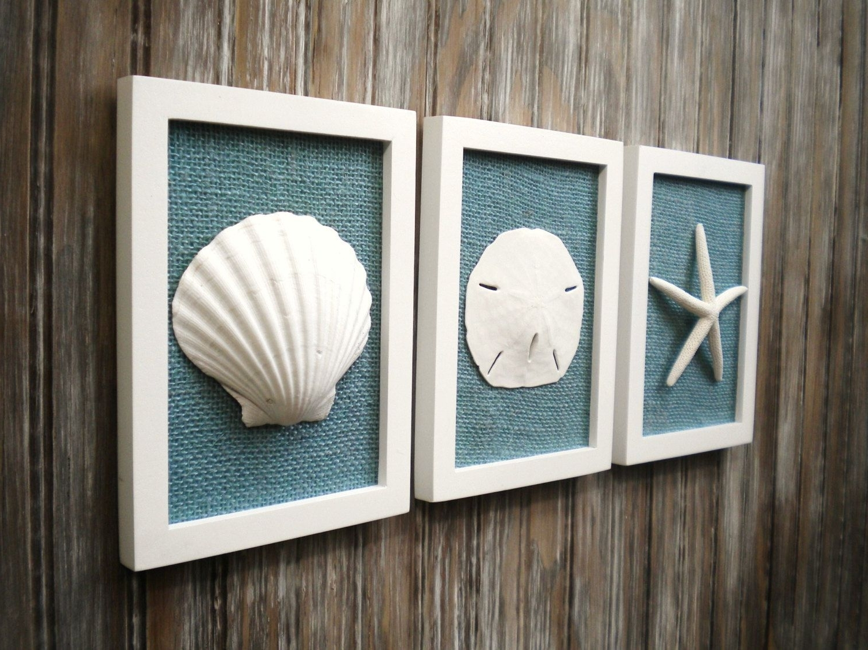 Nautical Wall Art With Regard To 2017 Cottage Chic Set Of Beach Decor, Wall Art, Nautical Decor, Coastal (View 5 of 15)