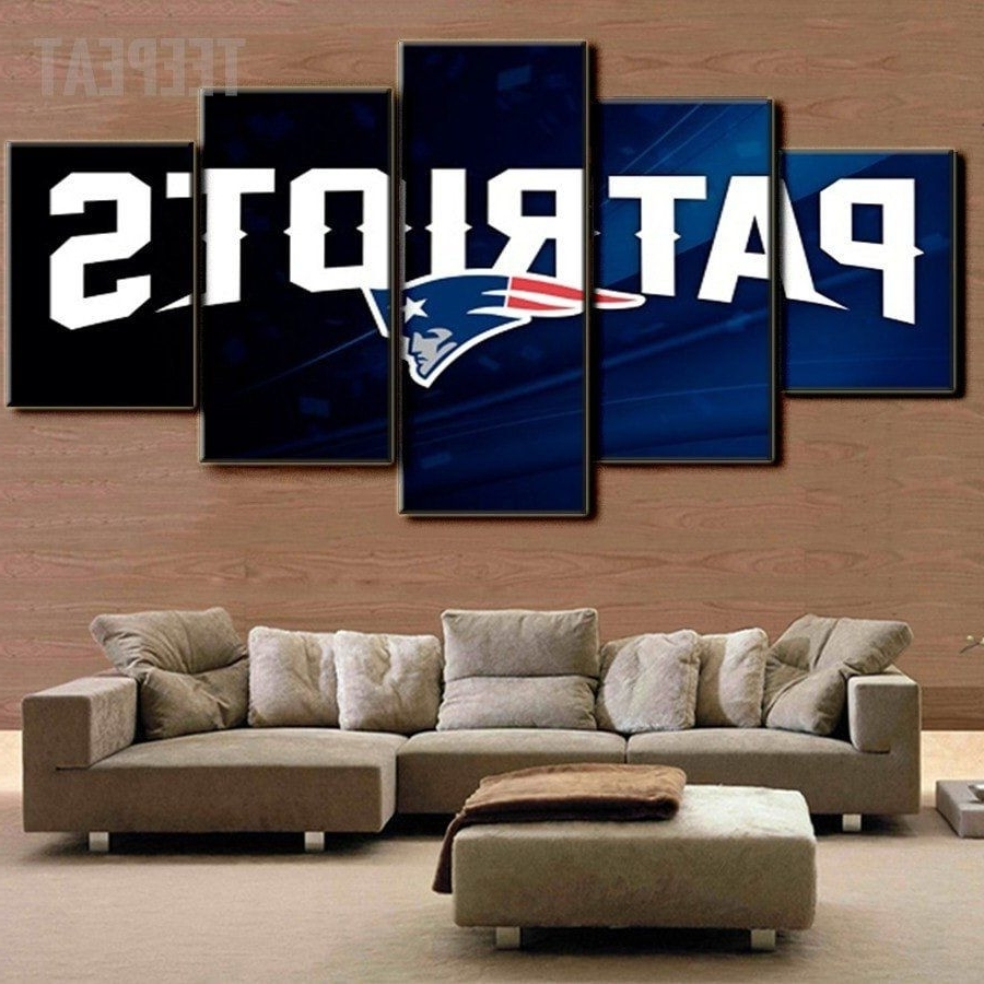 New England Patriots 5 Piece Canvas Painting Design Ideas Of Nfl With Current Nfl Wall Art (Gallery 14 of 20)