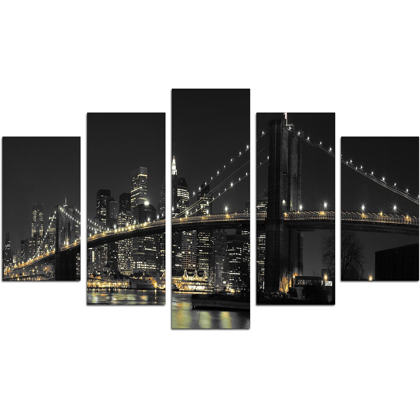 New York Canvas Wall Art For Your Living Room – Set Of Five Intended For Recent Nyc Wall Art (Gallery 4 of 20)