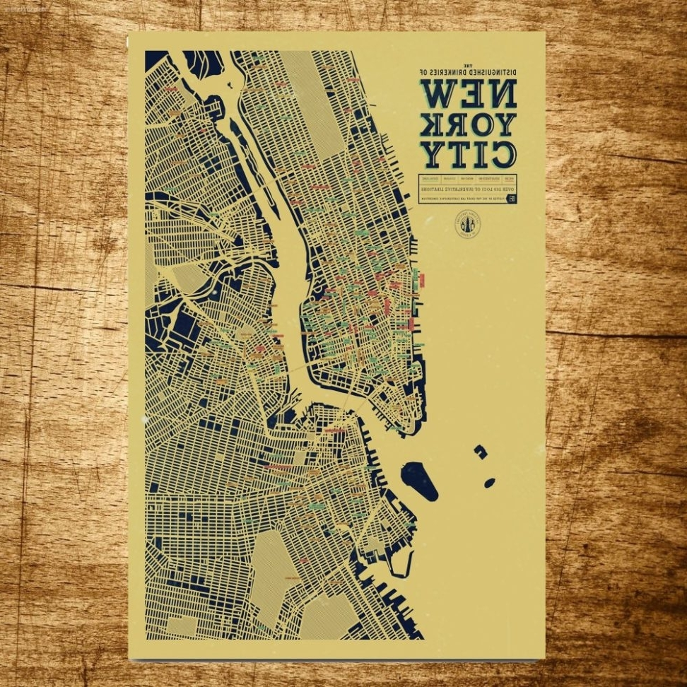 Top 20 of New York City Map Wall Art