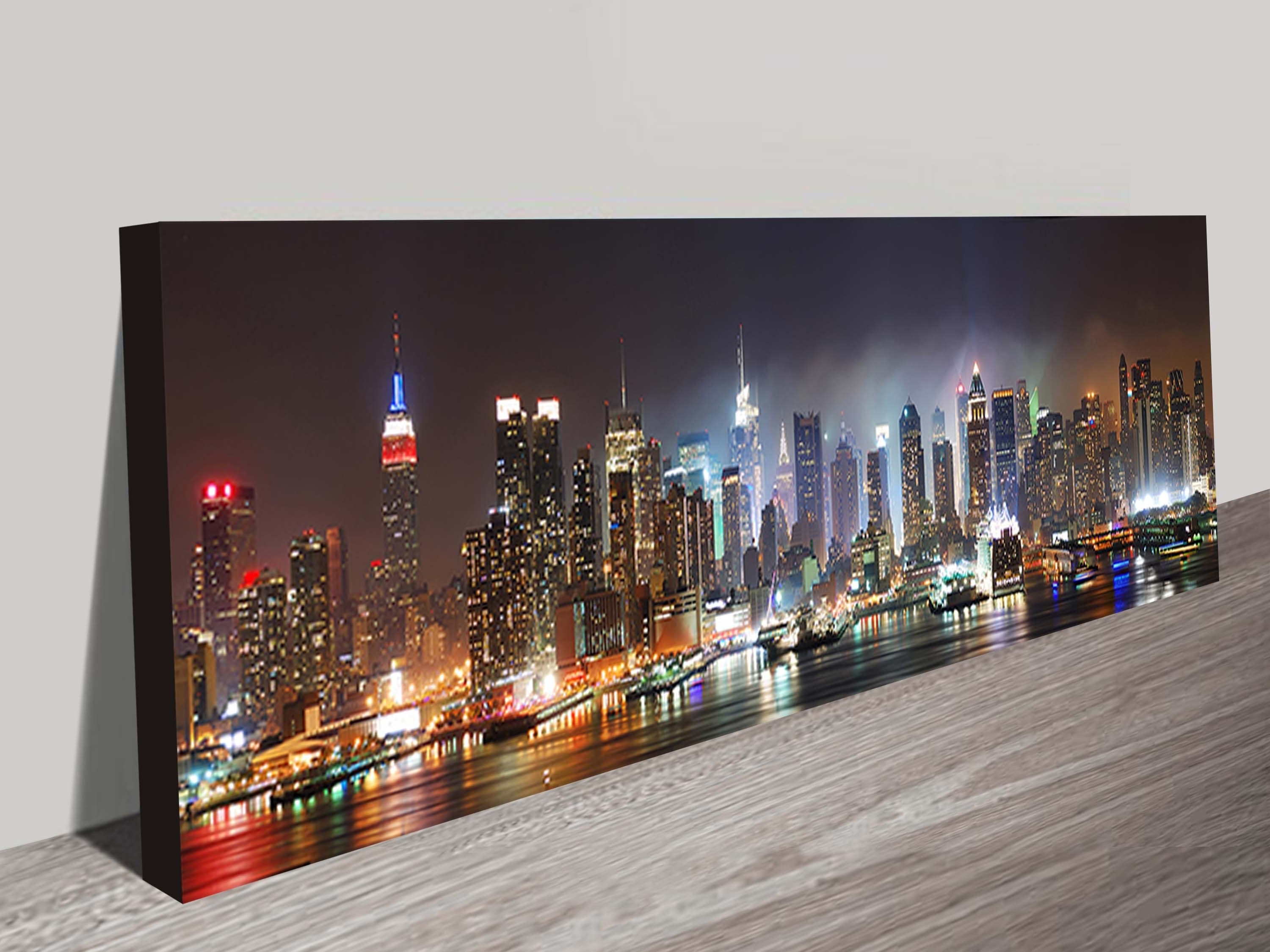 New York Skyline Panorama Photo Canvas Wall Art Print Usa Throughout Widely Used New York Wall Art (View 3 of 20)