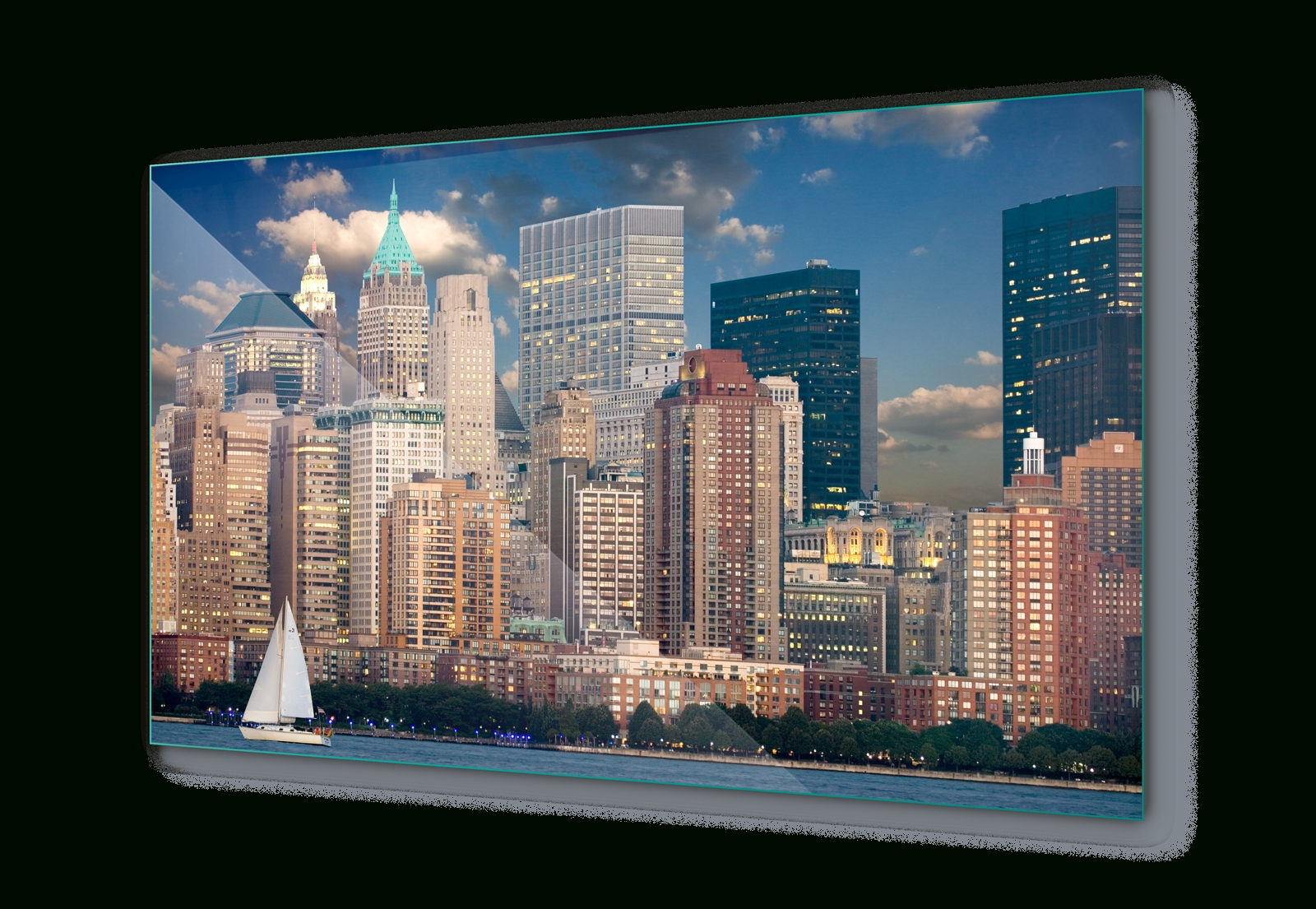 New York Wall Art Inside Famous New York Skyline City Canvas & Glass Wall Art Pictures (fw 1278) (View 18 of 20)