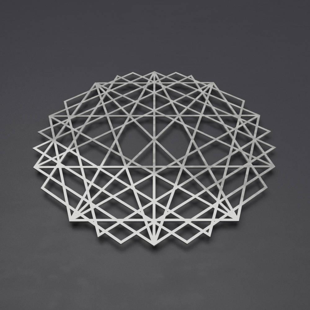 Newest Abstract Mandala Metal Wall Art Sculpture, Sacred Geometry Wall Art For Geometric Metal Wall Art (View 14 of 20)
