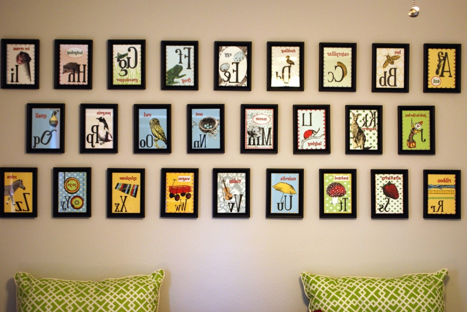 Newest Alphabet Wall Art Pertaining To Wall: Download Alphabet Wall Decor (View 14 of 20)