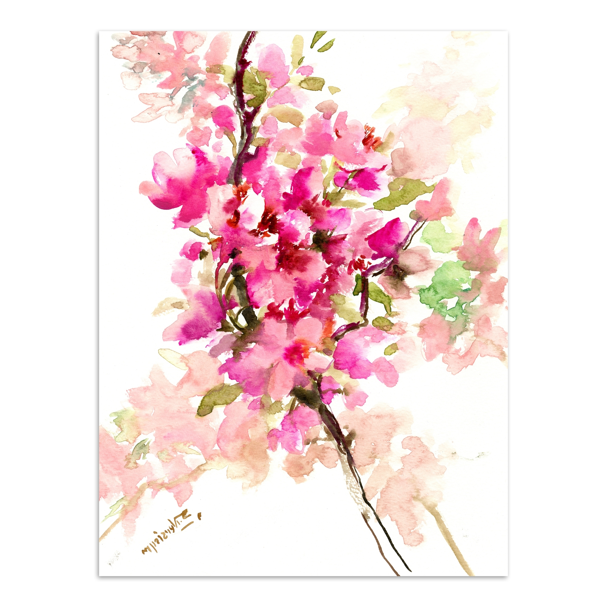 Newest Cherry Blossom Wall Art Throughout Americanflat Sakura Cherry Blossom 1 Printed Wall Art & Reviews (Gallery 16 of 20)