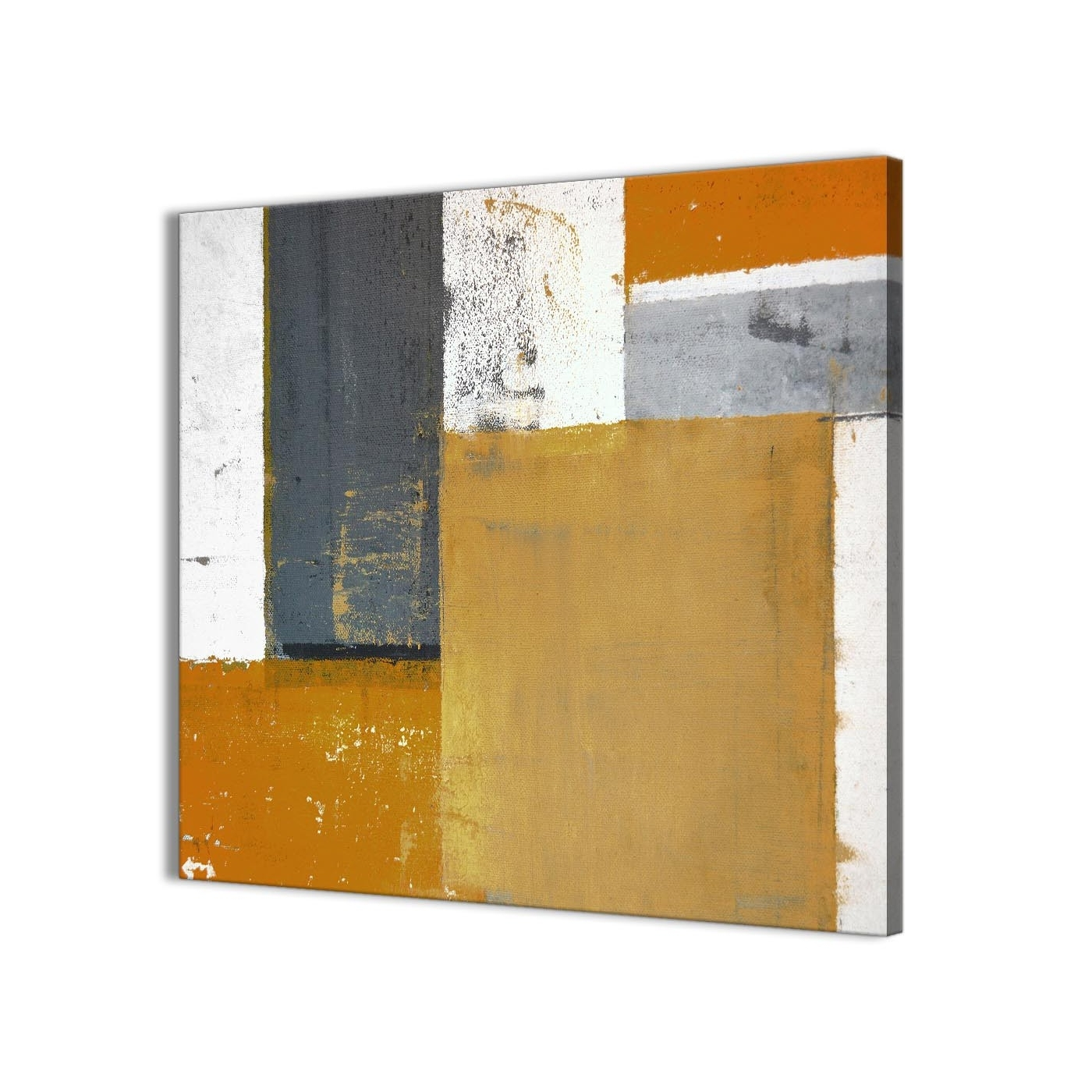 Newest Grey Wall Art Within Orange Grey Abstract Painting Canvas Wall Art Print – Modern 64Cm (View 14 of 20)