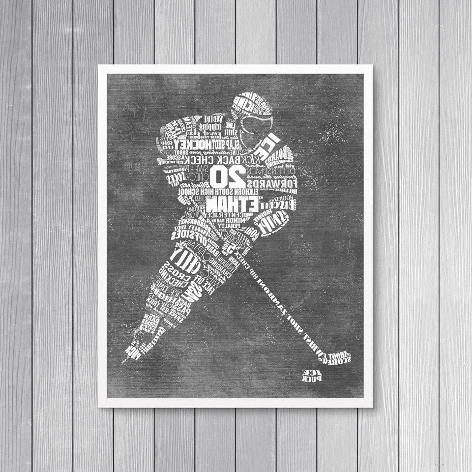 Newest Hockey Wall Art Intended For Personalized Hockey Gift  Hockey Coach Gift – Hockey Wall Art (View 13 of 15)