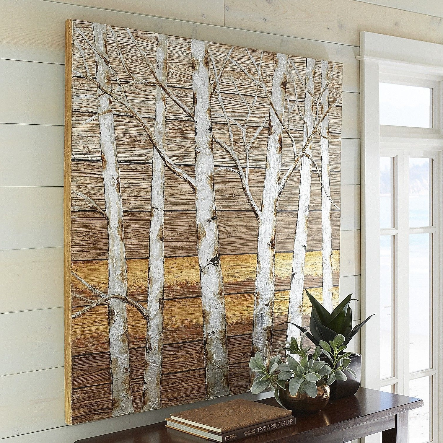 Newest Metallic Birch Trees Wall Art – 4X (View 11 of 20)