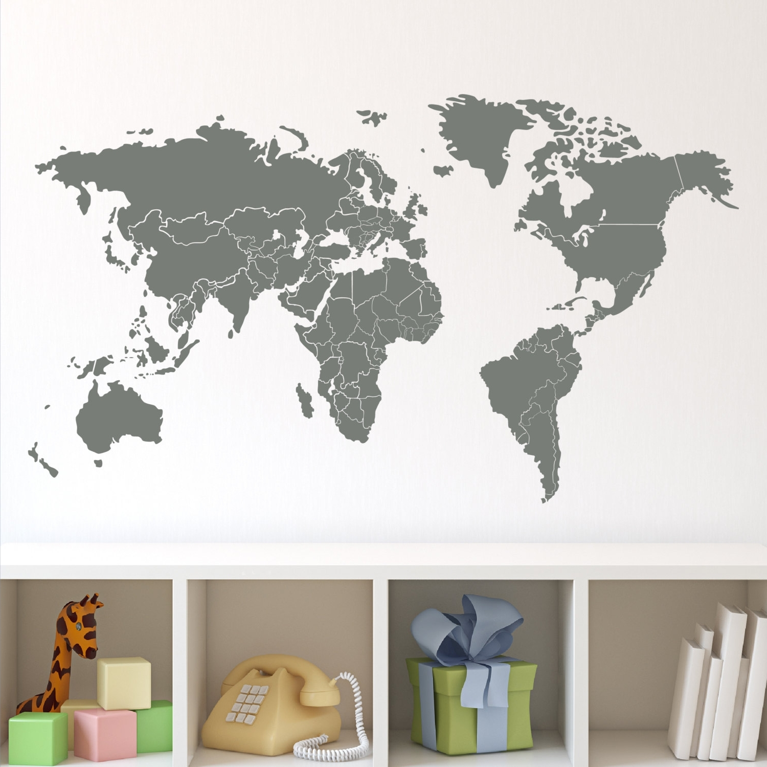 Newest Nice World Map Wall Decals – Home Design #940 Throughout Vinyl Wall Art World Map (View 7 of 20)