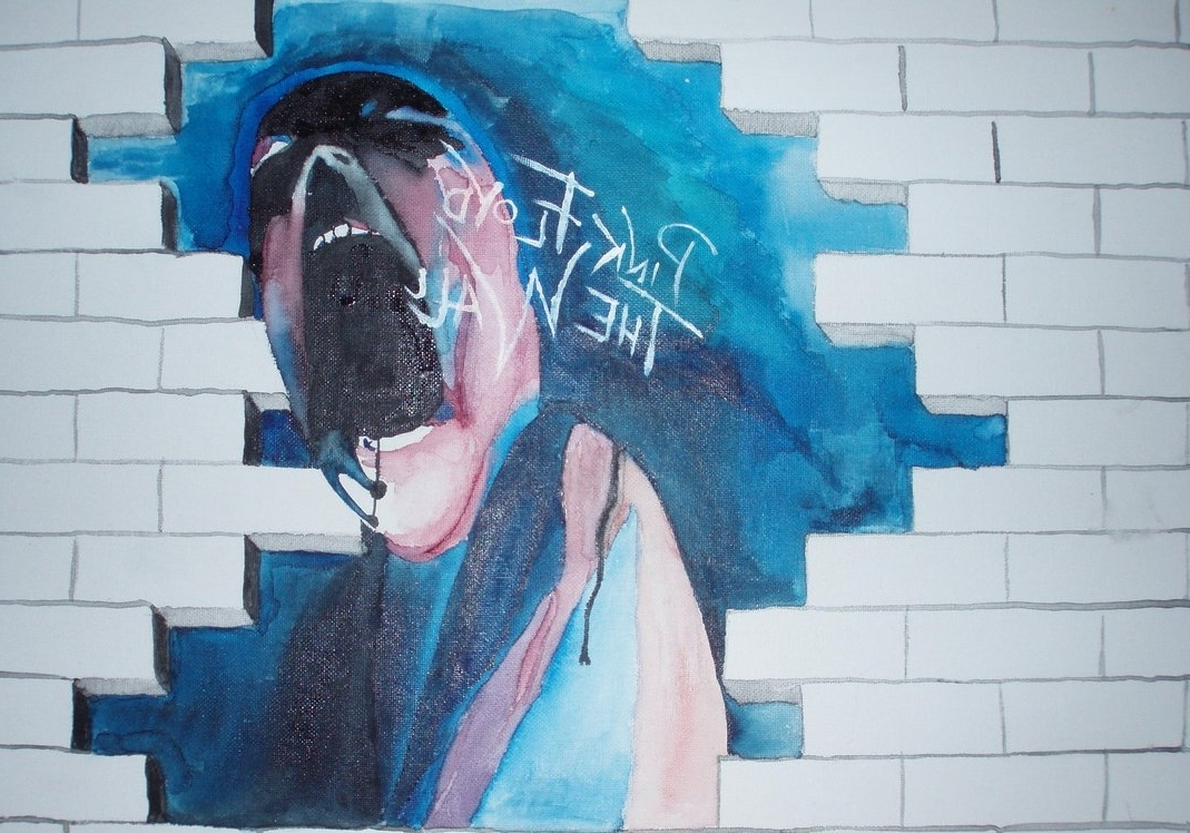 Newest Pink Floyd The Wallblowtorchslaughter On Deviantart Within Pink Floyd The Wall Art (Gallery 6 of 20)