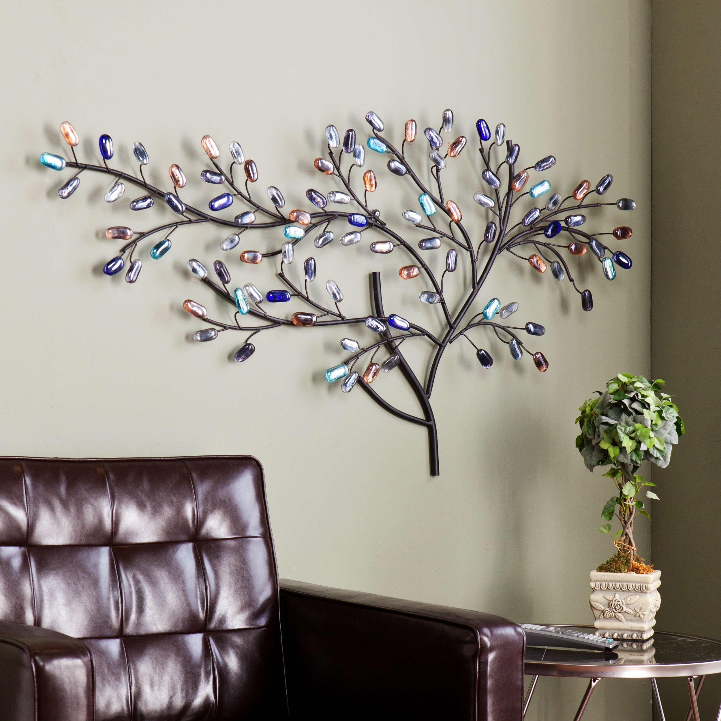 Newest Tree Wall Art Regarding Harper Blvd Willow Multicolor Metal/ Glass Tree Wall Sculpture (View 7 of 15)
