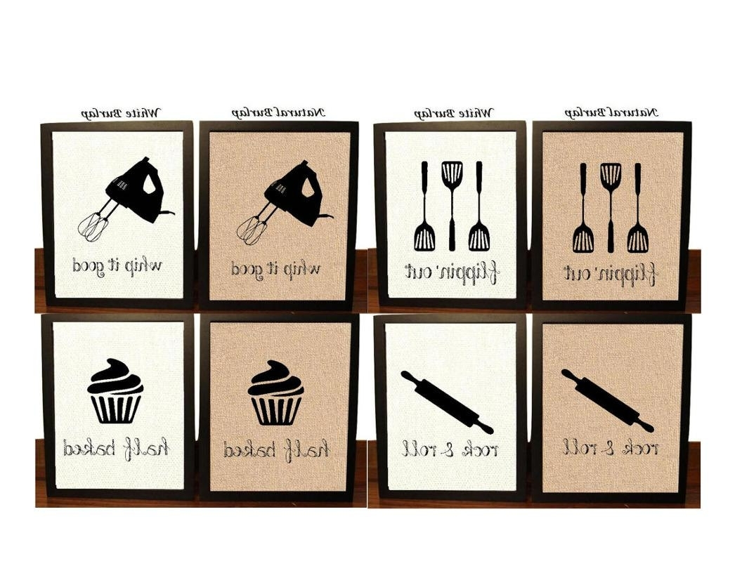 Newest Wall Art For Kitchen For Pick 4 Kitchen Wall Decor Kitchen Sign Kitchen Art Kitchen (View 17 of 20)