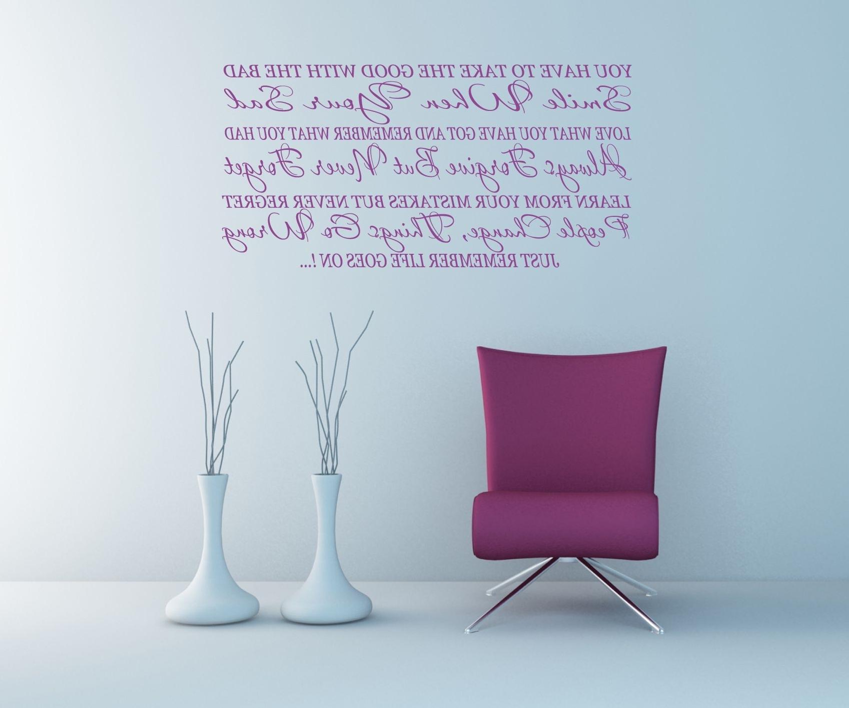 Newest Wall Art Ideas Design : Inspirational Quotes Wall Art Canvas Pertaining To Inspirational Quotes Wall Art (View 15 of 20)