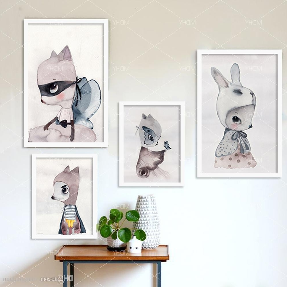 Newest Wall Art Prints With Regard To 2018 Nordic Decoration Girls Wall Art Prints Canvas Posters And (View 15 of 20)