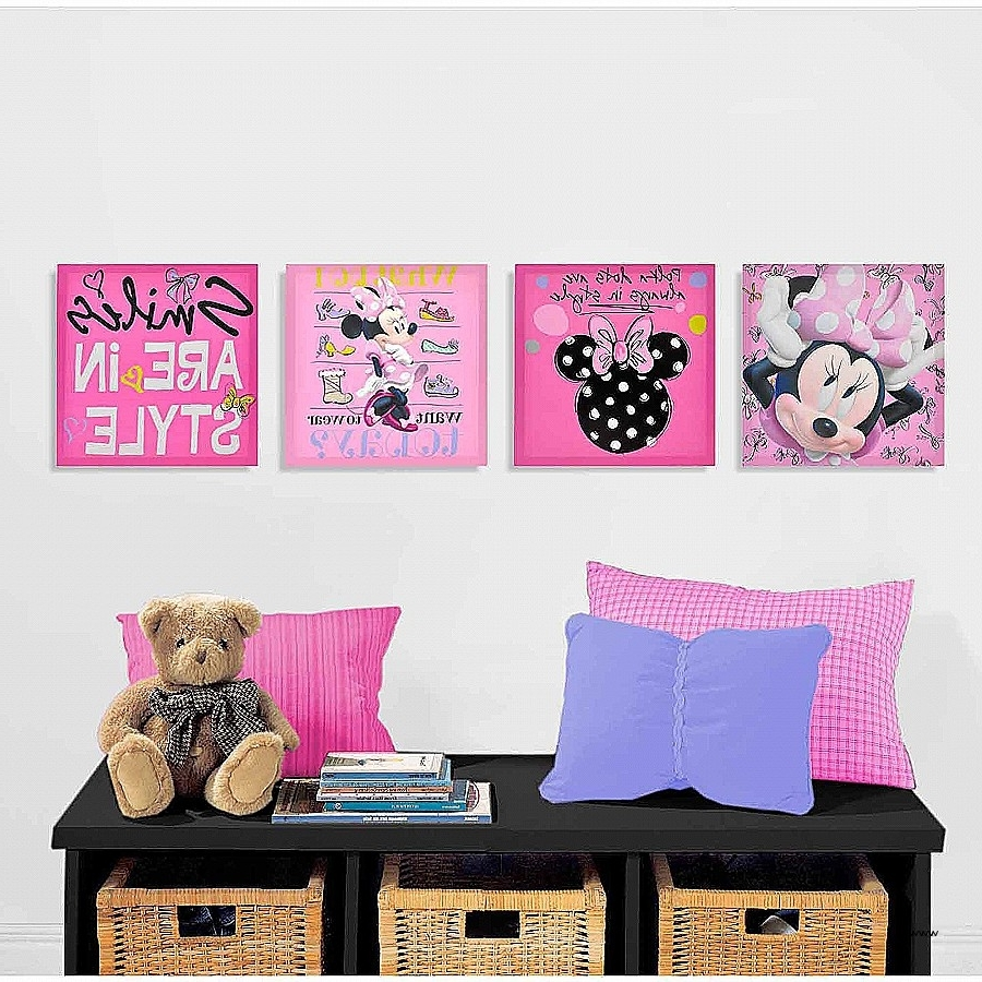 Newest Wall Decor: Walmart Wall Art Decor Awesome Minnie Mouse Room With Walmart Wall Art (Gallery 10 of 20)