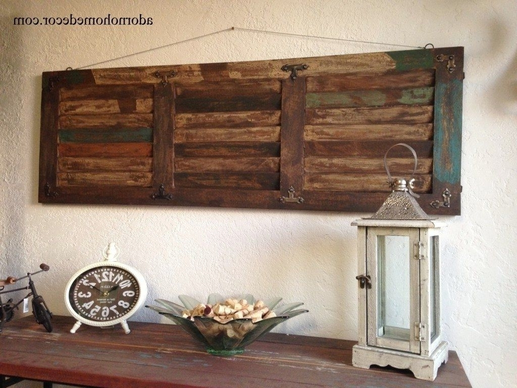 Newest Wood And Metal Wall Art Inside Marvelous Home Design Rustic Wood And Metal Wall Art Victorian (Gallery 9 of 20)