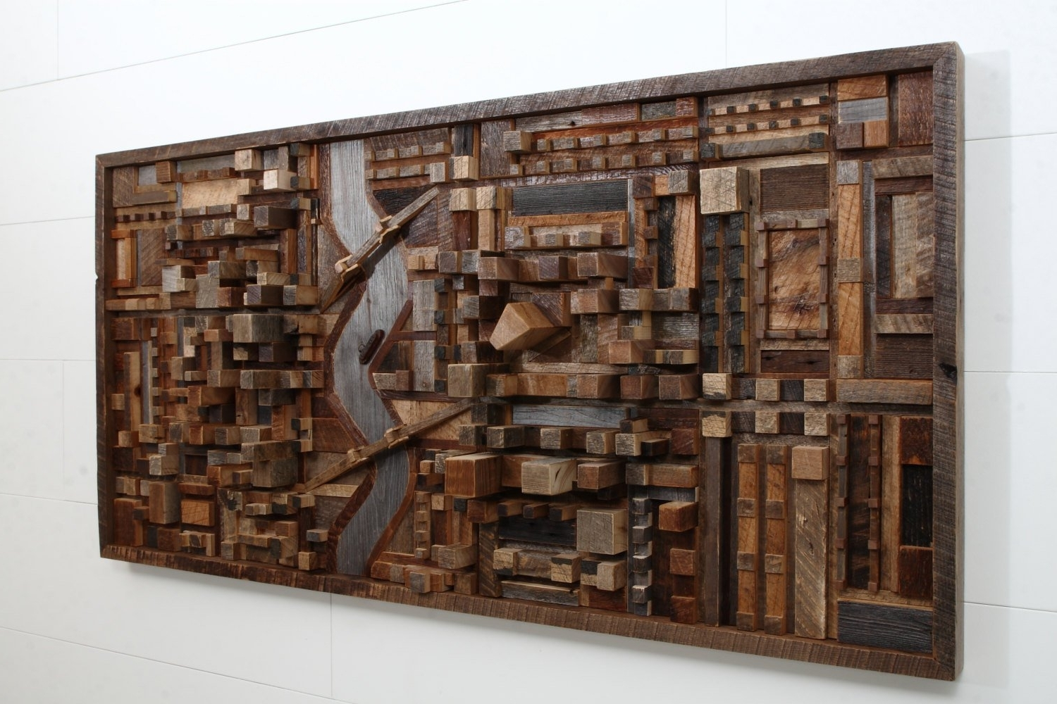 Newest Wood Art Wall With Regard To Outstanding Reclaimed Wood Wall Art – Style Motivation (Gallery 11 of 20)