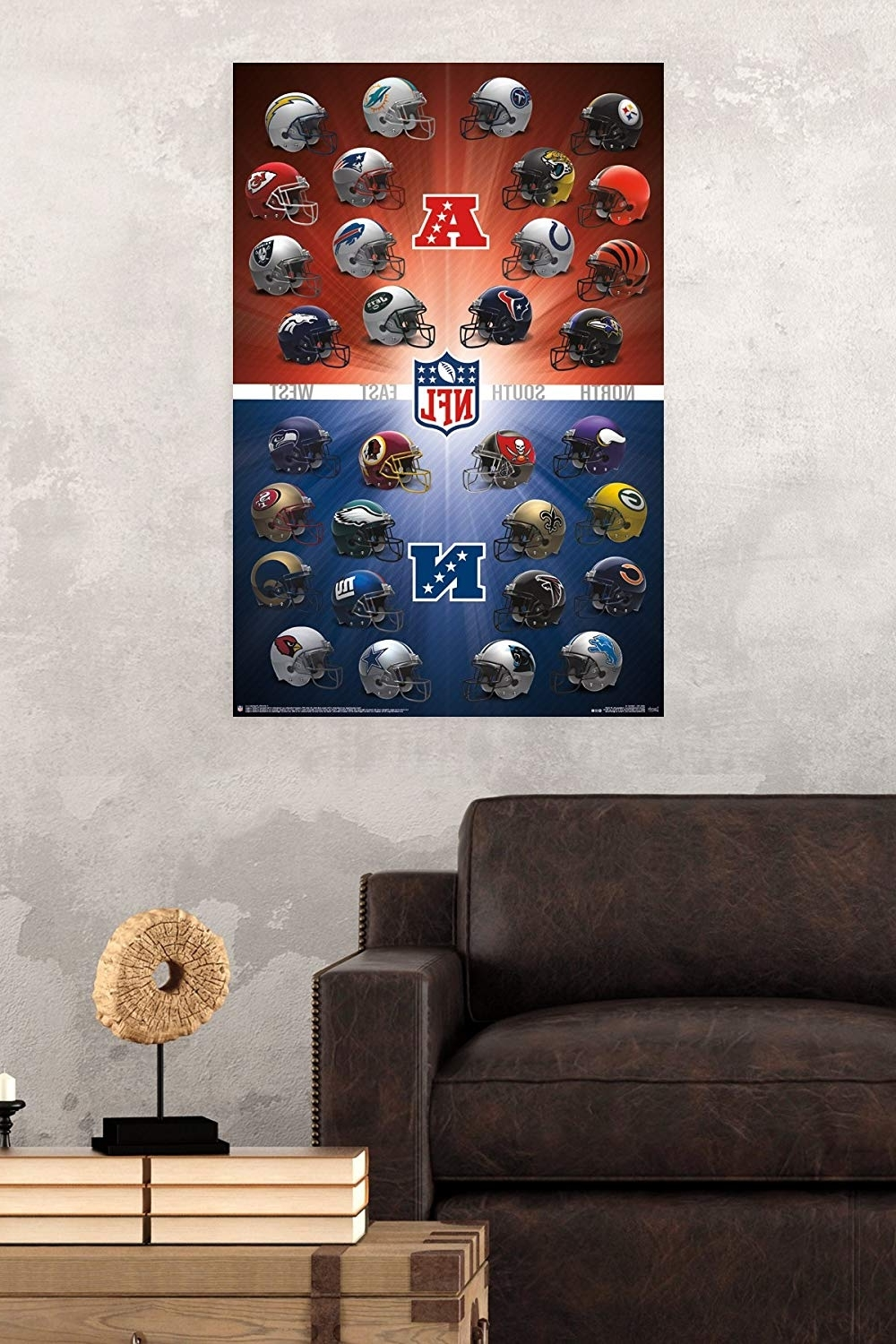 Nfl Wall Art Throughout Widely Used Amazon: Trends International Nfl Helmets 2016 Wall Poster (View 3 of 20)
