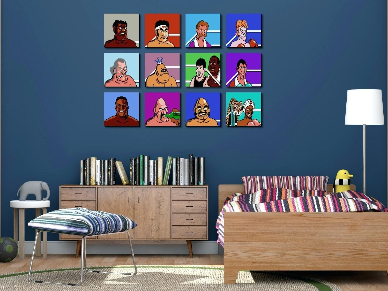 Nintendo Wall Art Throughout Best And Newest Nintendo Wall Decal Unique Throwback Mike Punch Out Wall Art Zoom (View 14 of 20)